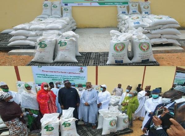 Réponse à la Covid-19: La CEDEAO ,  à travers deux dons de vivres pour les ménages les plus vulnérables, vient en appui au Nigéria