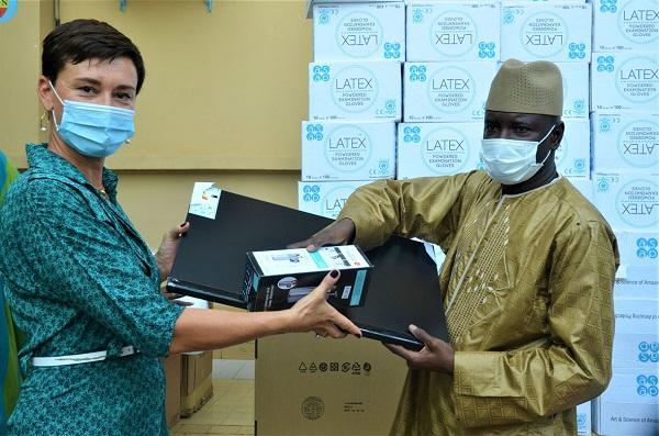Coopération Sénégal -UE :l'UE offre des moyens techniques et produits sanitaires aux  forces de sécurité pour la lutte contre la Covid-19