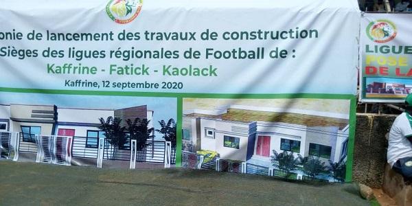 Sièges des ligues régionales de football :Mactar Ba lance les travaux de construction