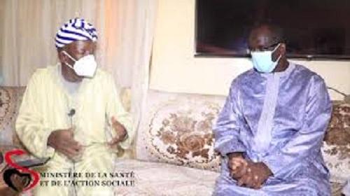 Gamou de Médina Baye 2020 : Abdoulaye Diouf Sarr reçu par le Khalife Cheikh Mouhamadou  Mahi Ibrahima Niass